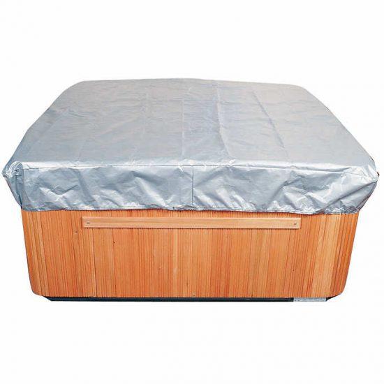 A hot tub cover cap.