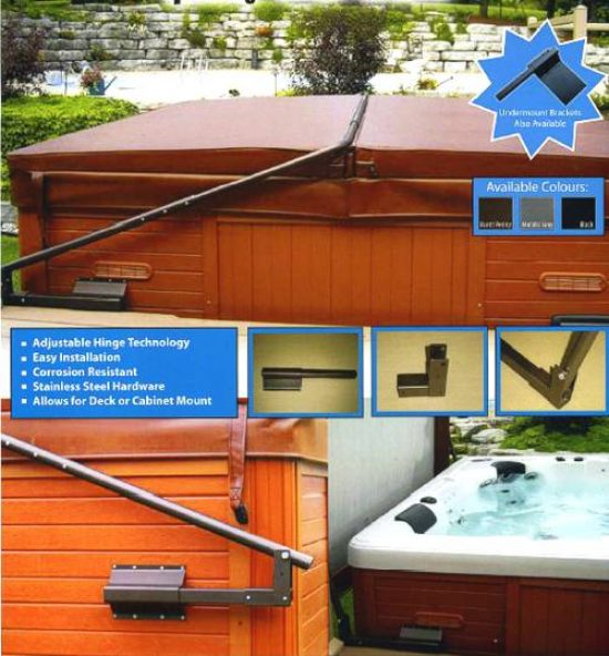 The ultra lift hot tub cover lifter.